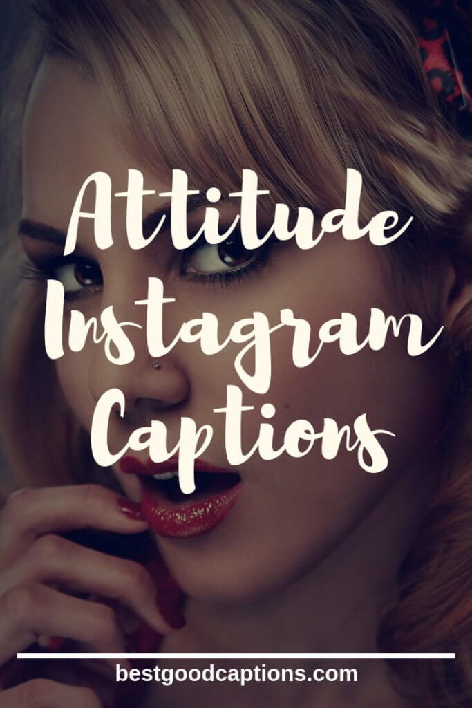 Attitude Caption for Instagram