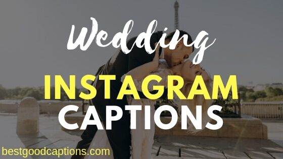 Wedding Captions for Instagram Photos – 100+ Best