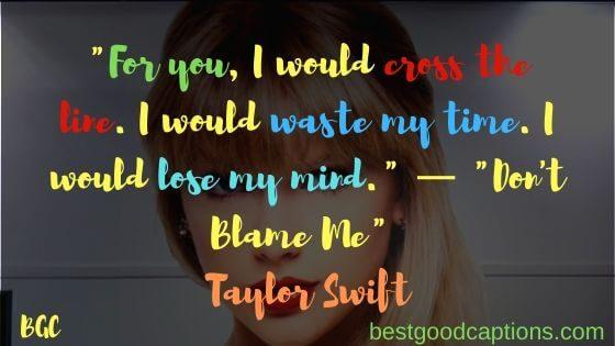 Taylor Swift Captions