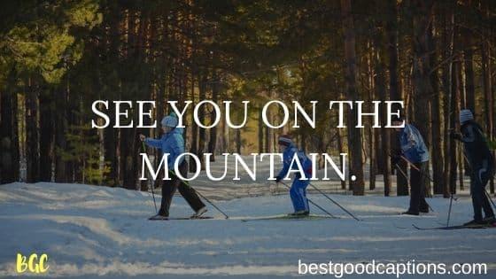 Best Instagram Caption for Skiing