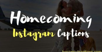 Homecoming Captions for Instagram
