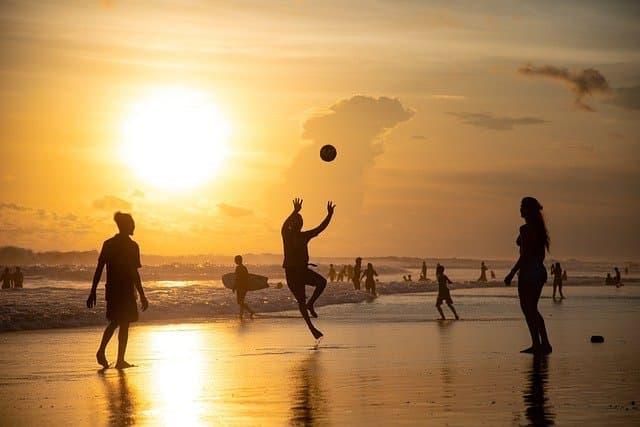 Sunset Beach Volleyball Captions