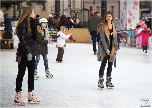 Snow Ice Skating Captions