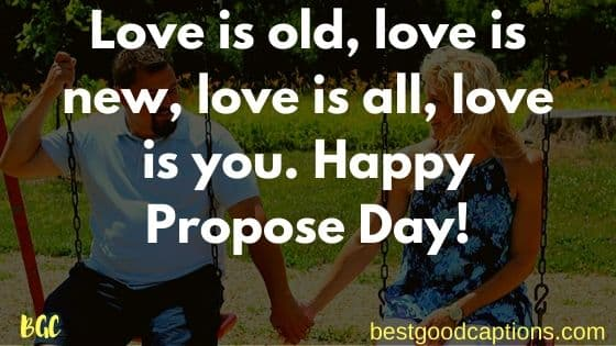 Propose Day Caption for Wife