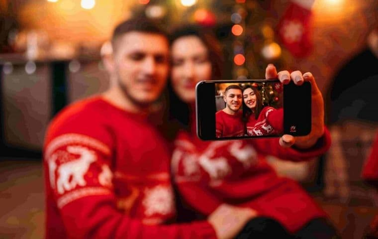 Christmas Captions for Couples Pictures