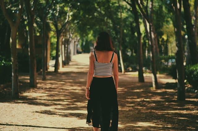 Walking Alone Captions