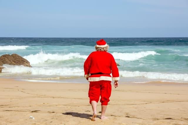 Beach Christmas Captions for Instagram