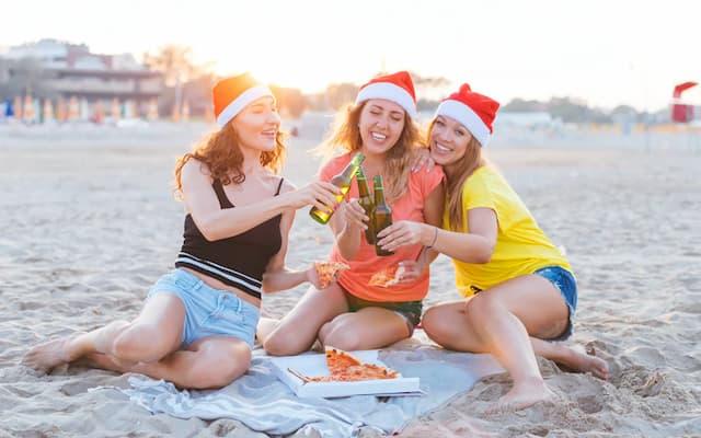 Beach Christmas Instagram Captions