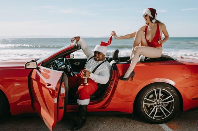 Funny Christmas Beach Captions