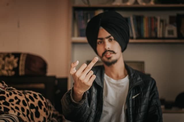 Middle Finger Captions for Haters